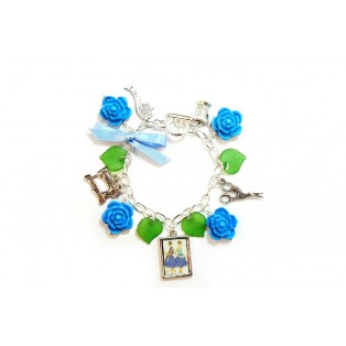 Mend and Make Do Themed Charm Bracelet